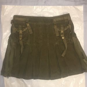 American Eagle utility cargo pleated mini skirt